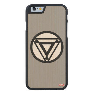 Iron Man Arc Reactor Icon Carved® Maple iPhone 6 Case