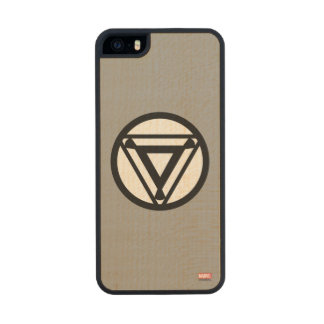 Iron Man Arc Reactor Icon Wood Phone Case For iPhone SE/5/5s