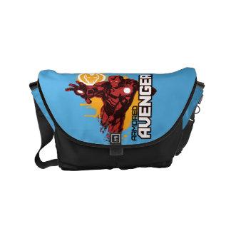 Iron Man Armored Avenger Graphic Small Messenger Bag