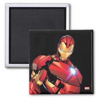 Iron Man Assemble 2 Inch Square Magnet