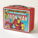 """Iron Man Comic #126 Metal Lunch Box<br><div class=""""desc"""">Check out this classic Iron Man comic book cover,  featuring Iron Man&#39;s armor activating.</div>"""