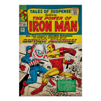 Iron Man Comic #58 Poster