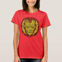 Iron Man Comic Patterned Icon T-Shirt
