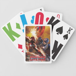 Iron Man Fighting Captain America Bicycle Playing Cards