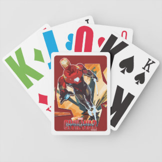 Iron Man Flying Fractured Stylized Graphic Bicycle Playing Cards