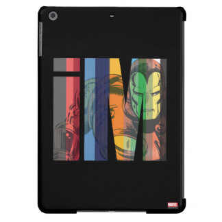 Iron Man iM Character Graphic iPad Air Cover