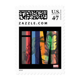 Iron Man iM Character Graphic Postage