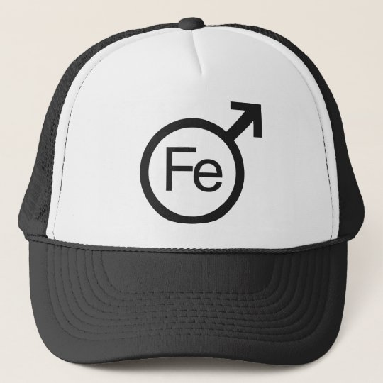 Iron Man Male gender symbol Fe design Trucker Hat