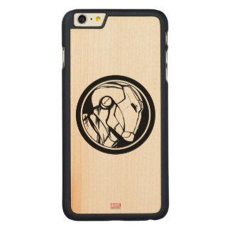 Iron Man Profile Logo Carved Maple iPhone 6 Plus Slim Case