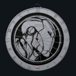 """Iron Man Profile Logo Dart Board<br><div class=""""desc"""">Iron Man 