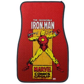 Iron Man Retro Breaking Chains Comic Car Floor Mat