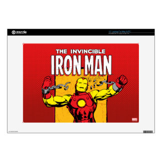 Iron Man Retro Breaking Chains Comic Decal For Laptop