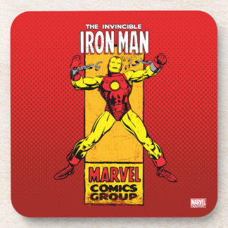 Iron Man Retro Breaking Chains Comic Drink Coaster