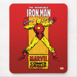 Iron Man Retro Breaking Chains Comic Mouse Pad