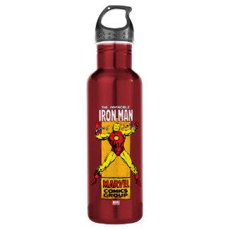 Iron Man Retro Breaking Chains Comic Water Bottle