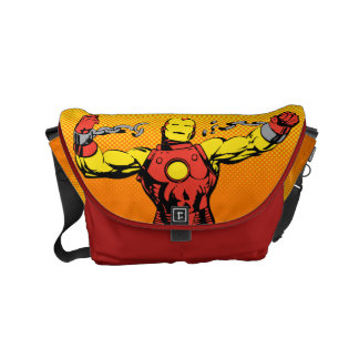 Iron Man Retro Breaking Chains Small Messenger Bag
