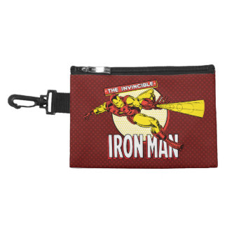 Iron Man Retro Character Graphic Accessory Bags