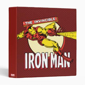 Iron Man Retro Character Graphic Binder