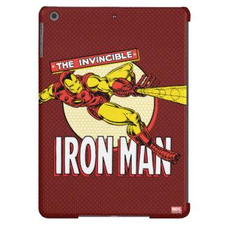 Iron Man Retro Character Graphic iPad Air Cover