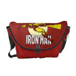 Iron Man Retro Character Graphic Messenger Bags