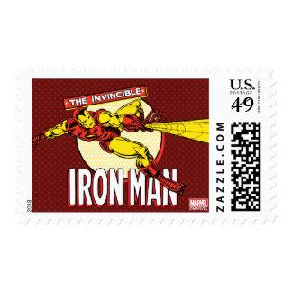 Iron Man Retro Character Graphic Postage