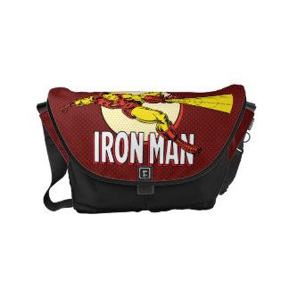 Iron Man Retro Character Graphic Small Messenger Bag