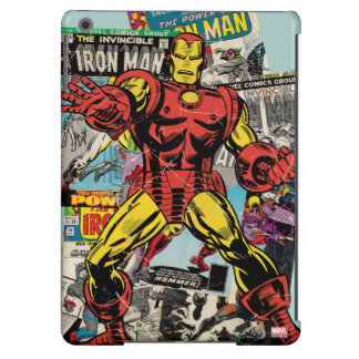 Iron Man Retro Comic Collage Case For iPad Air