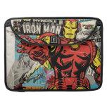Iron Man Retro Comic Collage MacBook Pro Sleeve