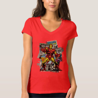 Iron Man Retro Comic Collage T-Shirt