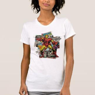 Iron Man Retro Comic Collage T-Shirt