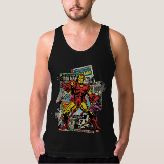 Iron Man Retro Comic Collage Tank Top