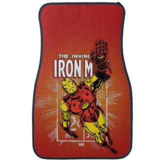 Iron Man Retro Comic Price Graphic Car Mat
