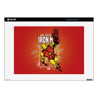"Iron Man Retro Comic Price Graphic Decal For 15"" Laptop"