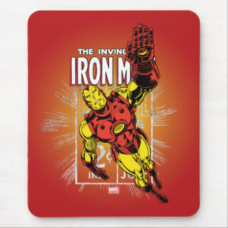 Iron Man Retro Comic Price Graphic Mouse Pad