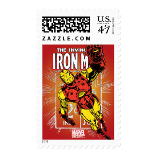 Iron Man Retro Comic Price Graphic Postage