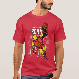 Iron Man Retro Comic Price Graphic T-Shirt