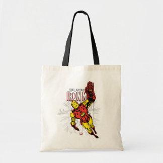 Iron Man Retro Comic Price Graphic Tote Bag