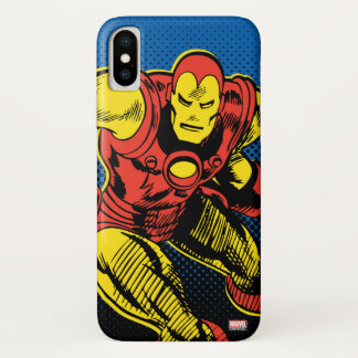 Iron Man Retro Flying iPhone X Case