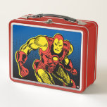 """Iron Man Retro Flying Metal Lunch Box<br><div class=""""desc"""">Check out this classic Iron Man comic book art of Iron Man flying and hovering in mid-air!</div>"""