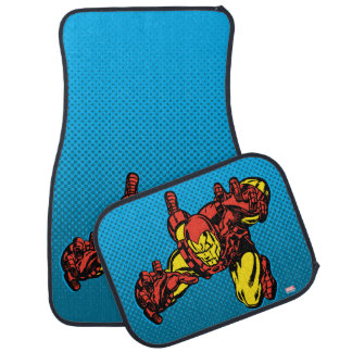 Iron Man Retro Grab Car Floor Mat