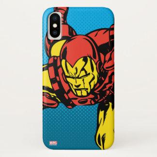 Iron Man Retro Grab iPhone X Case