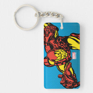 Iron Man Retro Grab Keychain