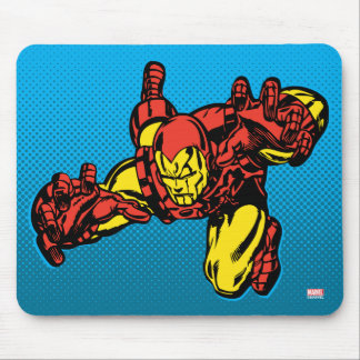Iron Man Retro Grab Mouse Pad