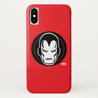 Iron Man Retro Icon iPhone X Case
