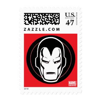 Iron Man Retro Icon Postage