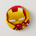 Iron Man Stylized Art Button