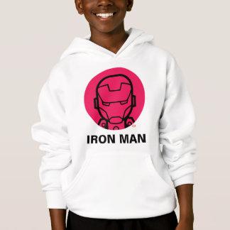 Iron Man Stylized Line Art Icon Hoodie