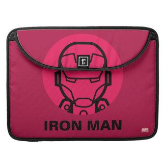 Iron Man Stylized Line Art Icon MacBook Pro Sleeve