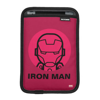 Iron Man Stylized Line Art Icon Sleeve For iPad Mini