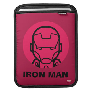 Iron Man Stylized Line Art Icon Sleeve For iPads